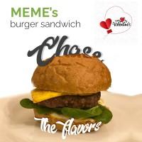 Meme's burger sandwich