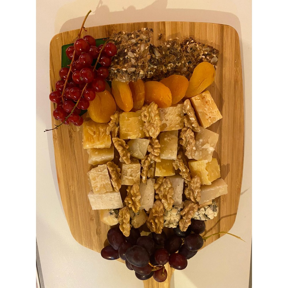 Nutritious delicious cheese platter